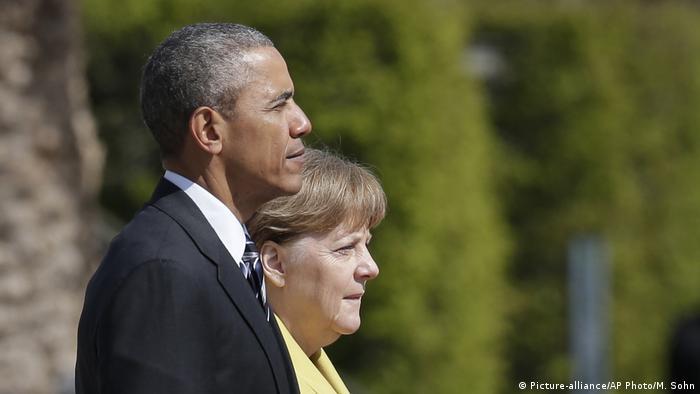 Deutsch Kanzlerin Merkel und US-Präsident Obama