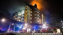Brand im Krankenhaus Bergmannsheil Bochum