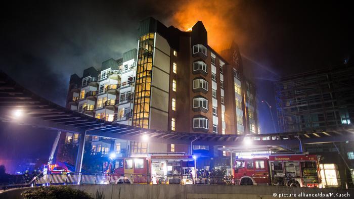 Brand im Krankenhaus Bergmannsheil Bochum (picture alliance/dpa/M.Kusch )