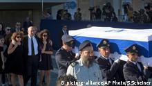 Israel Jerusalem Shimon Peres Beisetzung