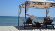 Tourismus in Griechenland-Zwischen Aegean und Olymp Mediterranean Village Hotel, Strand von Katerini, Region Pieria, September 2016 Copyright: DW/D. Dimitrakopoulos
