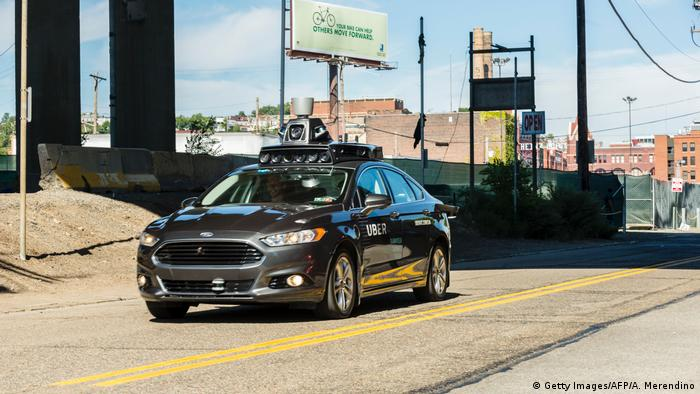 Semi-self-driving Uber car in Pittsburgh (Getty Images/AFP/A. Merendino)