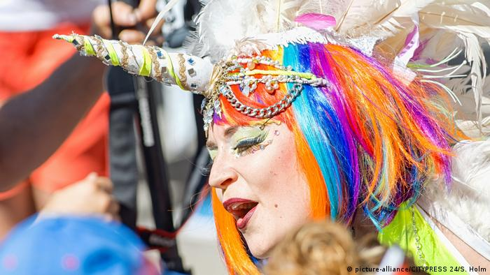 Pride Parade in Stockholm (picture-alliance/CITYPRESS 24/S. Holm)