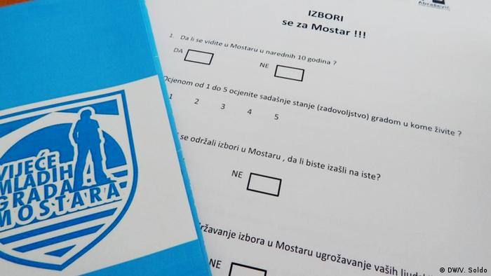 Bosnien und Herzegowina Alternative Kommunalwahlen in Mostar (DW/V. Soldo)