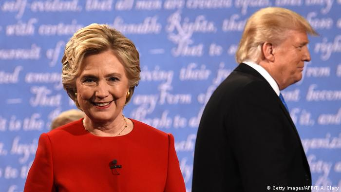 USA Presidentschaftsdebatte - Donald Trump und Hilary Clinton (Getty Images/AFP/T. A. Clary)
