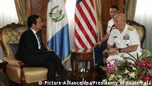 Guatemala US General Kurt W. Tidd bei Präsident Jimmy Morales