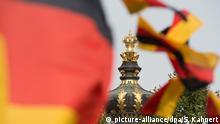 Deutschland Dresden Vorbereitungen Feierlichkeiten Tag der Deutschen Einheit