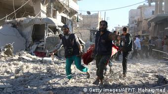 Алеппо после очередного авианалета