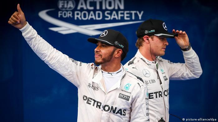 Hamilton y Rosberg en el Grand Prix de Malasia.