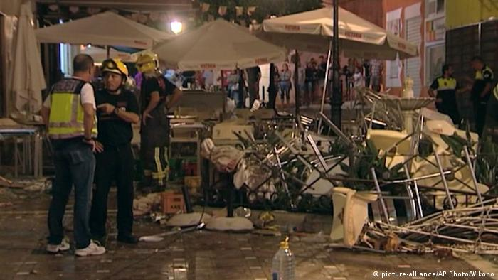Spanien Explosion in in Malaga (picture-alliance/AP Photo/Wikono)