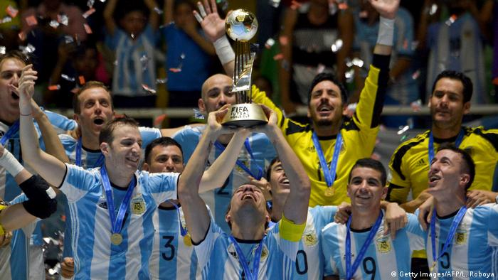 Kolumbien FIFA Futsal Finale in Cali - Argentinien vs. Russland (Getty Images/AFP/L. Roboya)