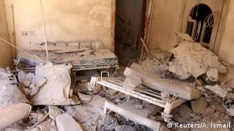 Syrien Zerstörtes Krankenhaus in Aleppo