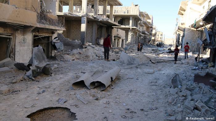 Suriye'nin Halep kentinde 2016 yılından bir görüntü.