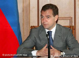 Medvedev at a table