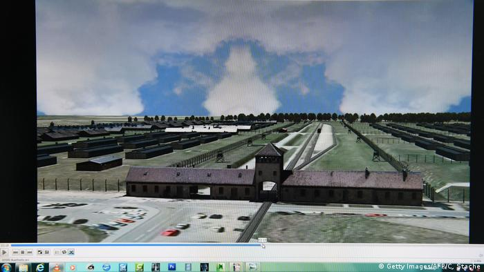 3D model of Auschwitz screenshot (Getty Images/AFP/C. Stache)