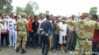 Äthiopien Tote bei Anti-Regierungs-Protesten in Bishoftu (DW/Y. Gegziabher)