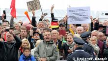 Deutschland Protest am Tag der Deutschen Einheit