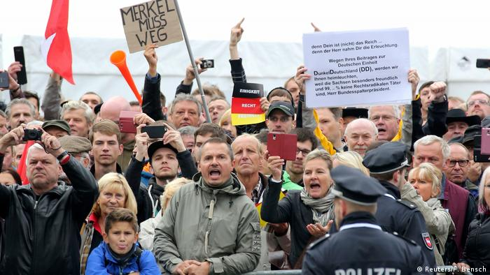 Protesters in Dresden