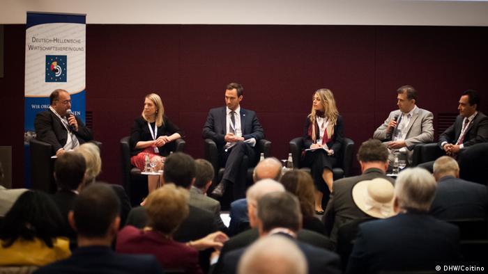 Deutschland Berlin Diskussionspanel deutsch-griechische Unternehmen Zusammenarbeit