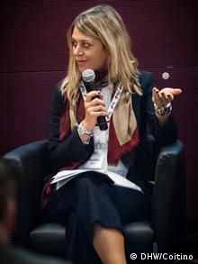 Η Ξένια Μελίδου, στέλεχος για θέματα μάρκετινγκ στην εταιρεία SYSTEC