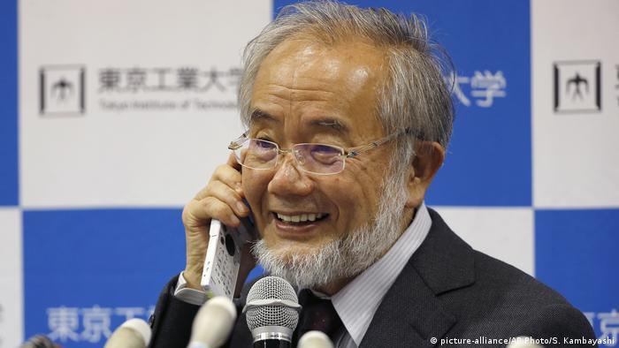 Medizonnobelpreis  Yoshinori Osumi (picture-alliance/AP Photo/S. Kambayashi)