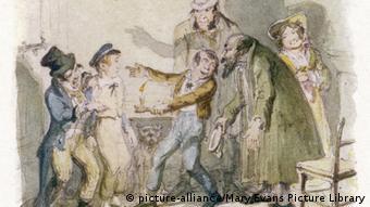 Ο Όλιβερ Τουίστ με τον γερο-Φέιγκιν (σχέδιο του 1836, Mary Evans Picture Library)