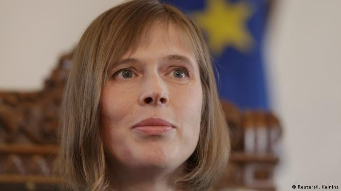 Estland neue Staatspräsidentin Kersti Kaljulaid (Reuters/I. Kalnins)