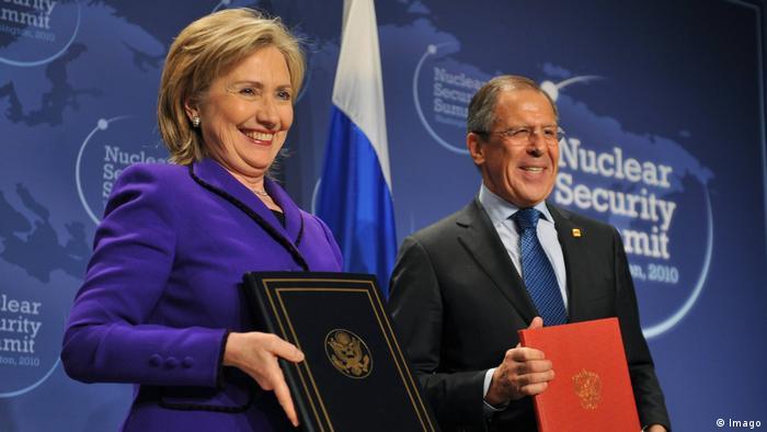Atomgipfel in Washington 2010 Clinton und Lawrow
