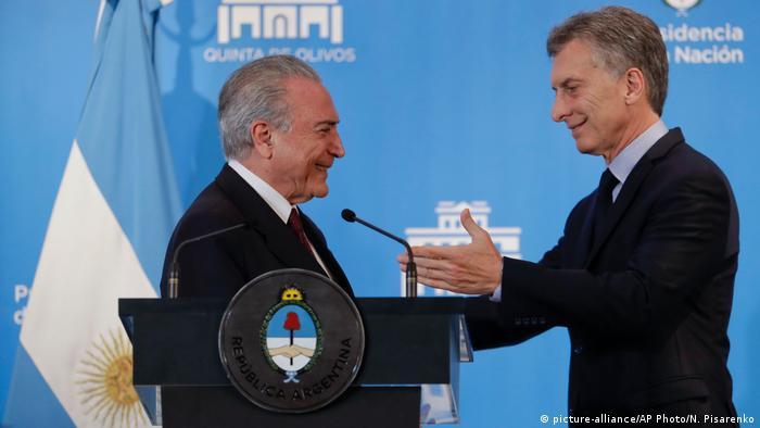 Michel Temer y Mauricio Macri: rivalidades entre Brasil y Argentina tienen sustrato histórico.