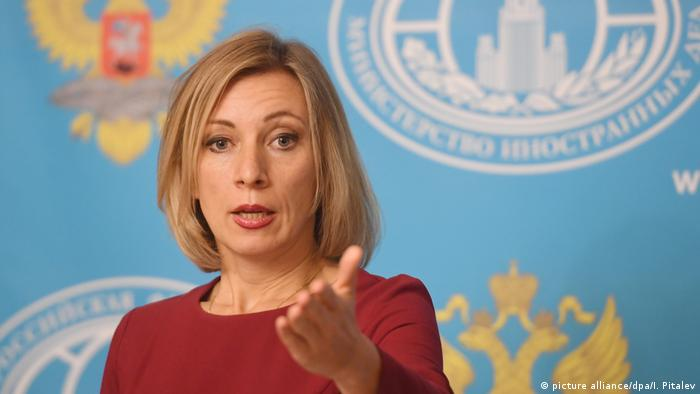 Russland Die Sprecherin des Aussenministeriums Maria Zakharova (picture alliance/dpa/I. Pitalev)