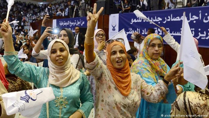 Marokko Wahlkampagne Anhänger vom Premierminister Benkirane