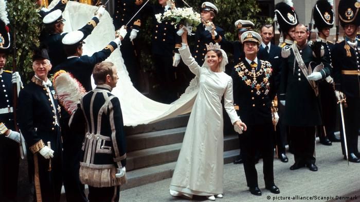 Wedding of King Carl XVI Gustaf and Silvia Sommerlath in 1976 (Copyright: picture-alliance/Scanpix Denmark)