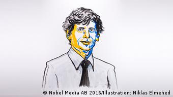 David J. Thouless (Nobel Media AB 2016/Illustration: Niklas Elmehed)
