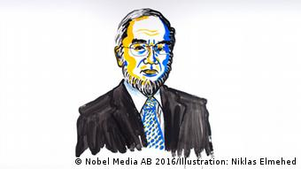 Nobelpreis für Physik 2016 Illustration - Yoshinori Ohsumi (Nobel Media AB 2016/Illustration: Niklas Elmehed)