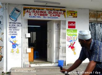 An Internet cafe in Mombasa, Kenya