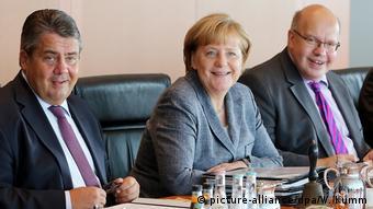 Berlin Kabinettssitzung Gabriel, Merkel, Altmaier