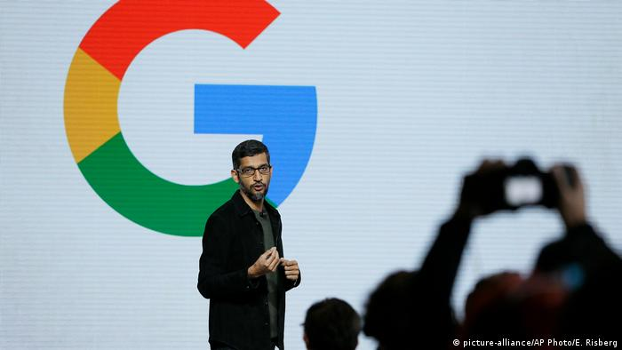 USA San Francisco PK Google Sundar Pichai (picture-alliance/AP Photo/E. Risberg)