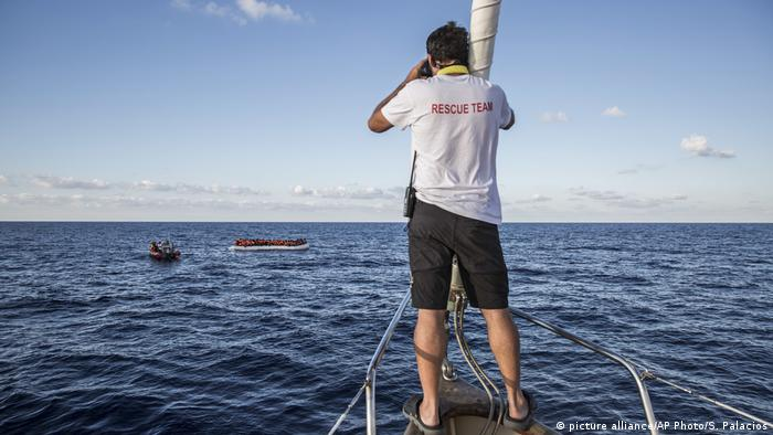 Spanien NGO Proactiva Open Arms (picture alliance/AP Photo/S. Palacios)