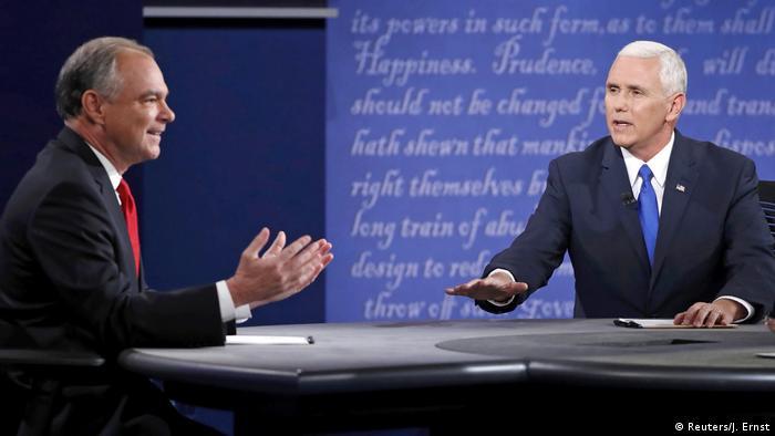 USA Pence trifft auf Kaine - Vizekandidaten liefern sich erstes TV-Duell