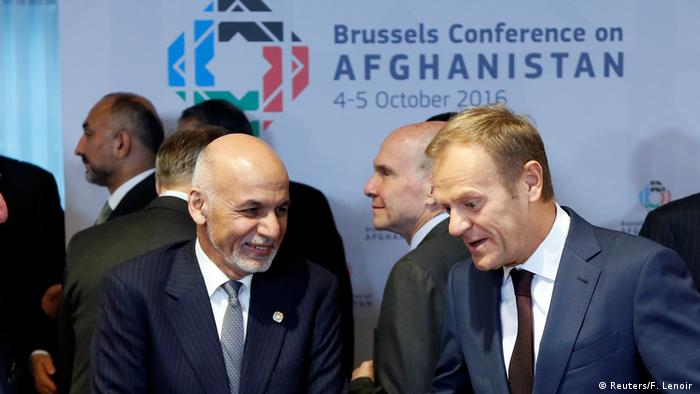 Afghanistan Konferenz in Brüssel Ghani und Tusk (Reuters/F. Lenoir )