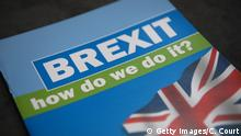 04.10.2016 **** BIRMINGHAM, ENGLAND - OCTOBER 04: Brexit literature is seen on the third day of the Conservative Party Conference 2016 at the ICC Birmingham on October 4, 2016 in Birmingham, England. Ministers and senior Party members will address delegates throughout the day with a number of speeches discussing 'a society that works for everyone'. (Photo by Carl Court/Getty Images) Copyright: Getty Images/C. Court