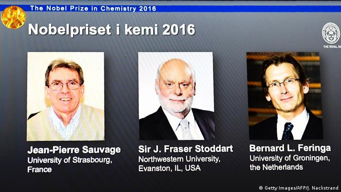 Schweden Bekanntgabe Chemie-Nobelpreis in Stockholm (Getty Images/AFP/J. Nackstrand)