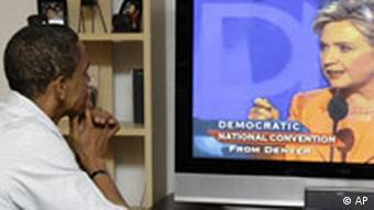 Obama war am zweiten Tag der Convention schon wieder auf Wahlkampftour, hier in Billings/ Montana, Quelle: AP