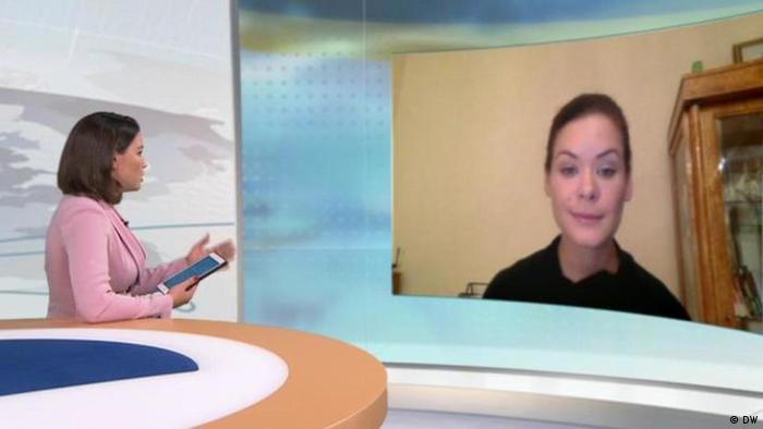 Жанна Немцова и Мария Гайдар во время записи интервью