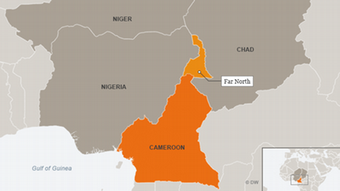 Karte Kamerun Extrême-Nord Englisch