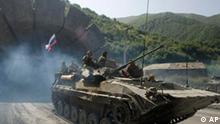 Russische Panzer in Nordossetien