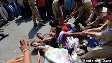 Indien Proteste gegen Benachteiligung von niedrigen Kasten