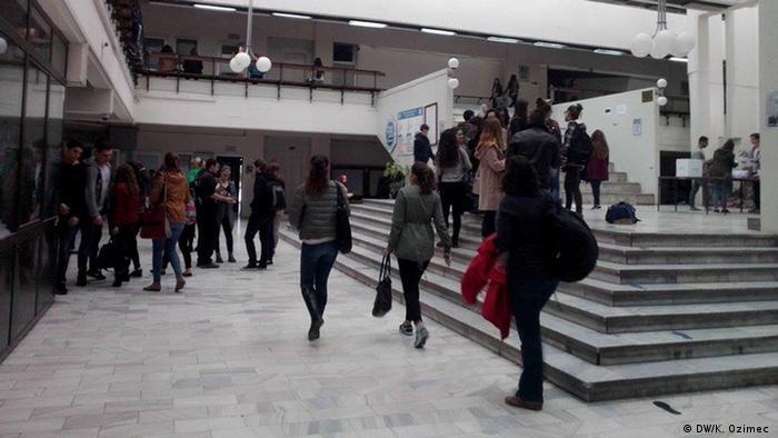Mazedonien Referendum Studentenvertretung Uni Skopje