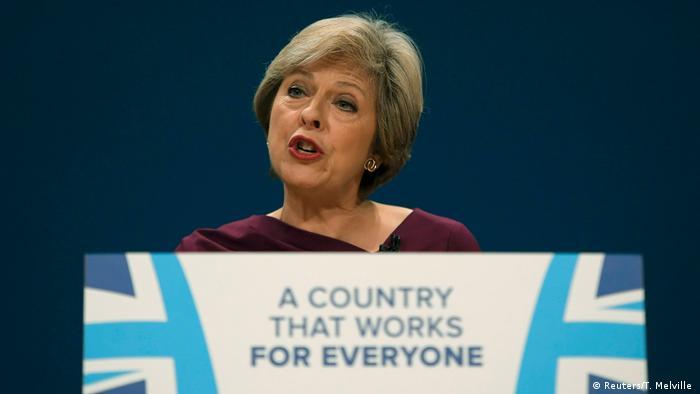 Großbritannien Parteitag der Konservativen in Birmingham Rede Theresa May