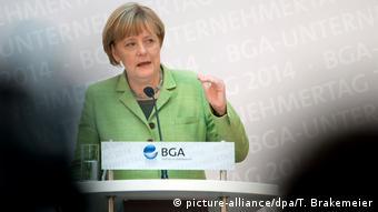Deutschland Berlin - Angela Merkel auf dem Unternehmertag des BGA